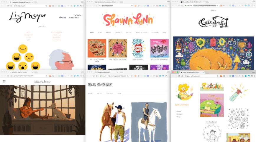 Many illustrators design and work remotely